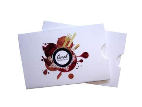 tarjetas de restaurantes creativas coloridas