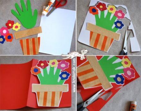 tarjetas para el dia del maestro mano con flores