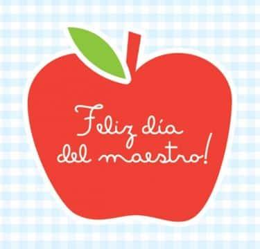 tarjetas para el dia del maestro manzana