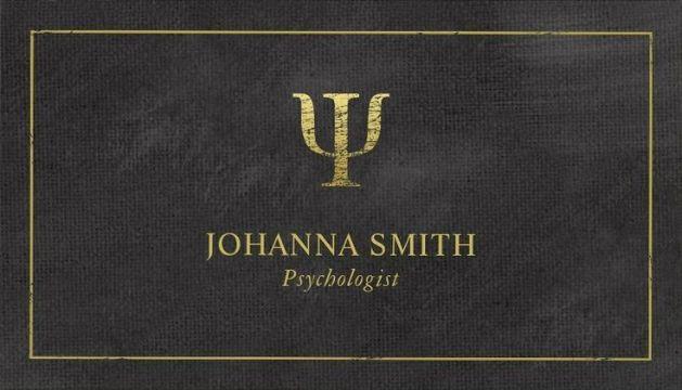 tarjetas personales psicologos con dorado