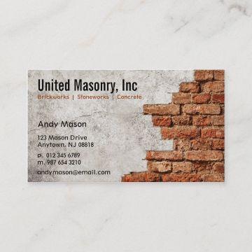 tarjetas de presentacion de albañileriafoto de pared de fondo