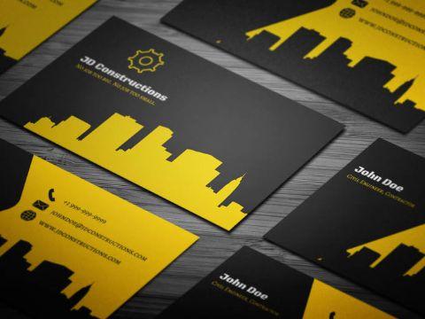 tarjetas de presentacion ingeniero civil contraste