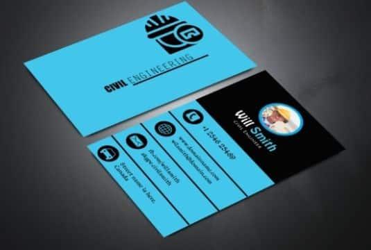 tarjetas de presentacion ingeniero civil informacion adecuada