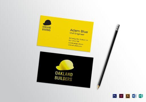 tarjetas de presentacion ingeniero civil logo