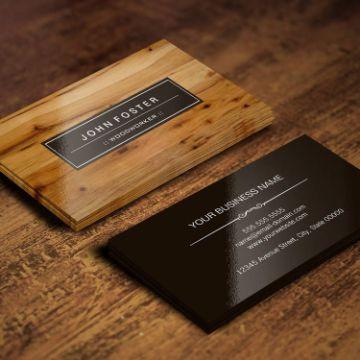 tarjetas de presentacion para carpinteria base realista