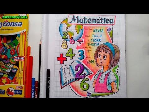 caratulas de matematicas faciles con personajes