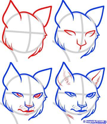 caratulas para dibujar faciles para crear rostros de animales