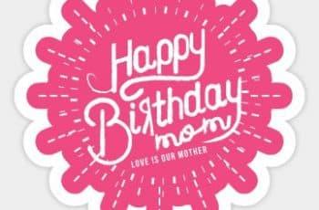 imagenes de cumpleaños para mama tipografias y logos