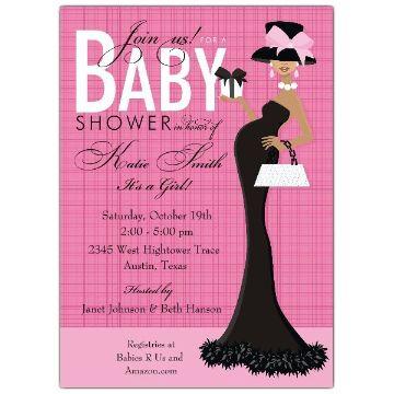 invitaciones de baby shower niña dibujos creativos