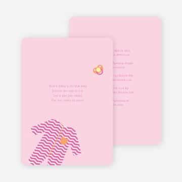 invitaciones de baby shower niña minimalistas
