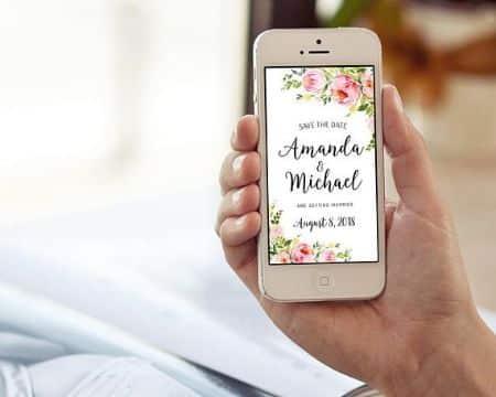 invitaciones virtuales para enviar por whatsapp marcos de flores