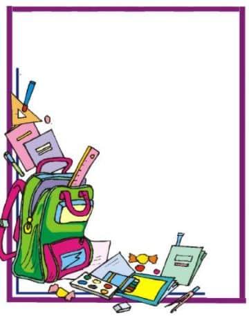 portadas de cuadernos para niños margenes