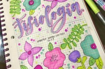 portadas para cuadernos faciles coloridas