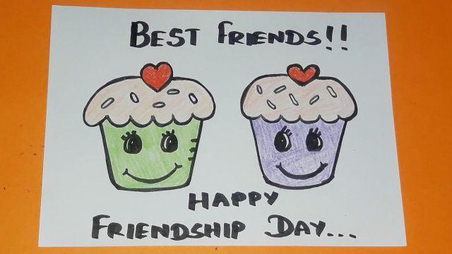 tarjetas de amistad para amigos con dibujos
