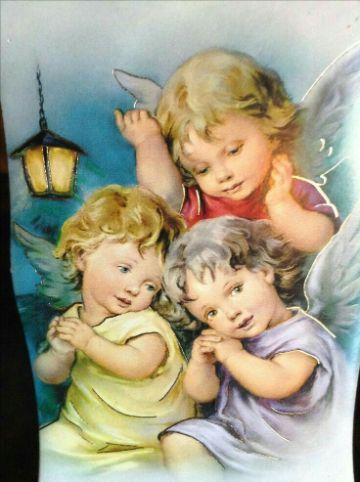 tarjetas de angeles de buenas noches fondo