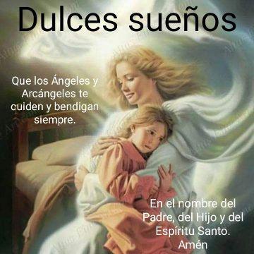 tarjetas de angeles de buenas noches oracion