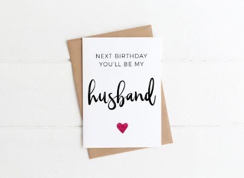tarjetas de cumpleaños para mi esposo minimalista