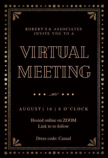 tarjetas de invitacion virtuales para eventos virtuales