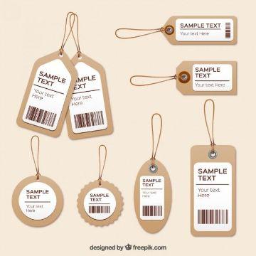 tarjetas de ropa para imprimir con codigos y especificaciones