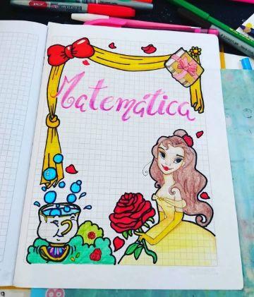 caratulas para cuadernos de niñas princesas