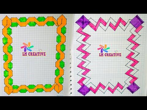 caratulas para cuadernos faciles marcos geometricos