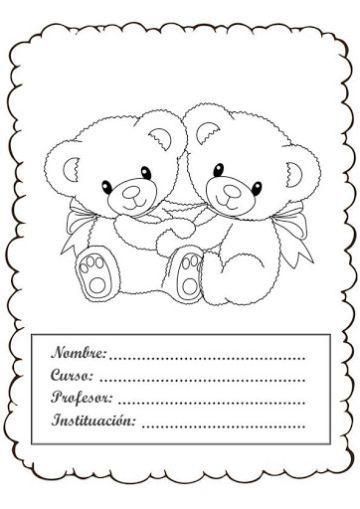 caratulas para cuadernos faciles para imprimir y colorear