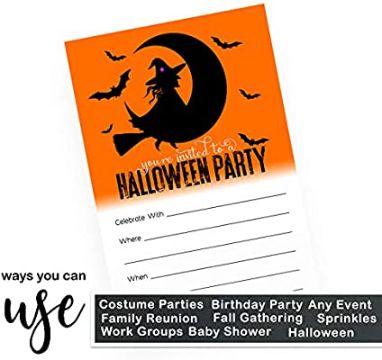 invitaciones de halloween para editar con dibujos