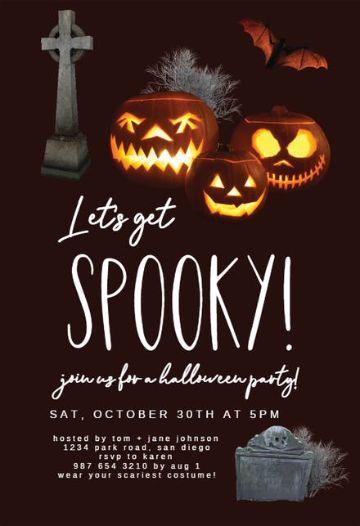 invitaciones de halloween para editar fotos geniales