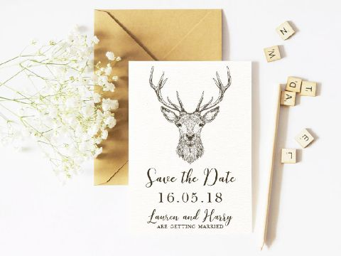 invitaciones para anunciar compromiso con imagenes de animales