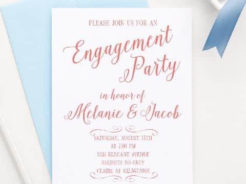 invitaciones para anunciar compromiso delicadeza
