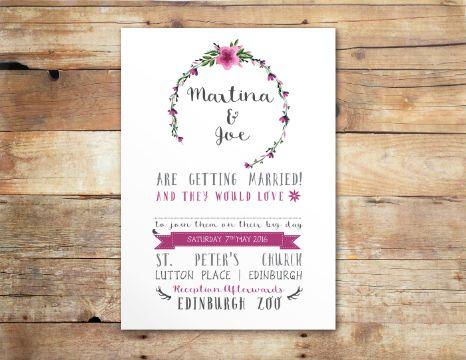 invitaciones para boda civil bonitas