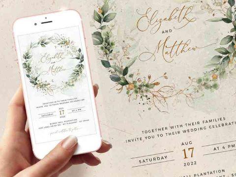 invitaciones para boda civil digitales