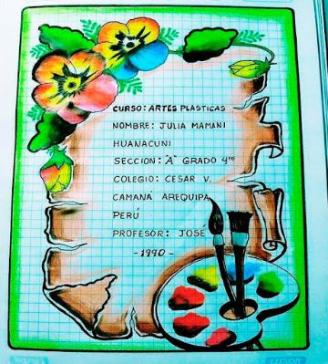 portadas para cuadernos de secundaria elaborados trabajos