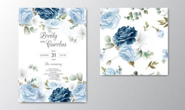 tarjetas de invitacion para misa de difuntos con flores