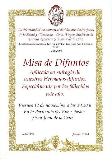 tarjetas de invitacion para misa de difuntos marcos dorados