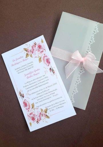 tarjetas de invitacion para misa de difuntos sobres de celofan