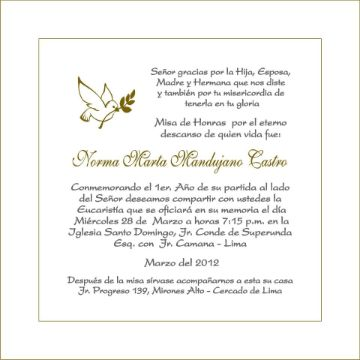 tarjetas de invitacion para misa de difuntos tipografias