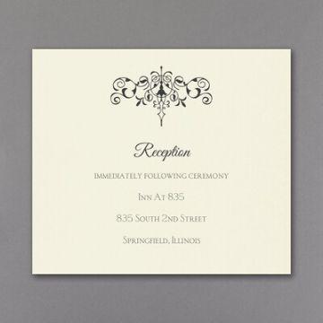 tarjetas de invitacion para recepcion sencillas