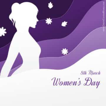 tarjetas del dia de la mujer fondos para editar