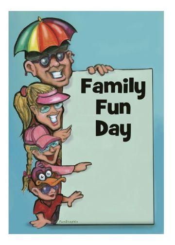 tarjetas para el dia de la familia con dibujos divertidos