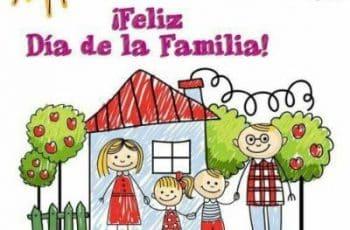 tarjetas para el dia de la familia dibujo original