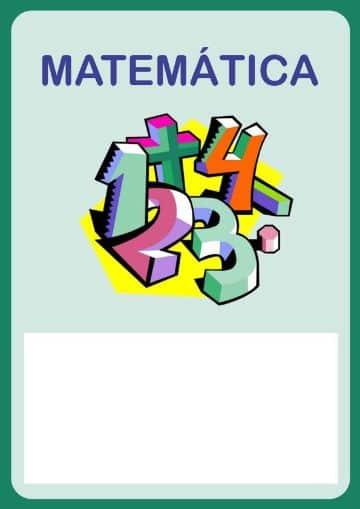 caratulas de matematicas para niños para descargar