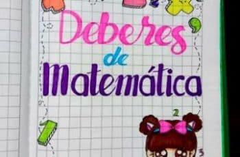 caratulas de matematicas para niños personajes y margenes