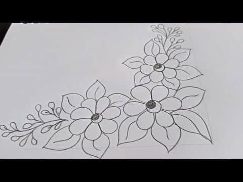 caratulas faciles para dibujar flores como margenes