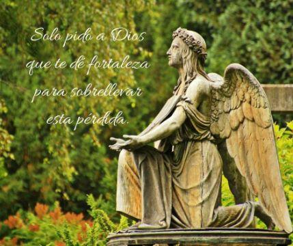 frases para dar el pesame a un familiar con imagenes de angeles