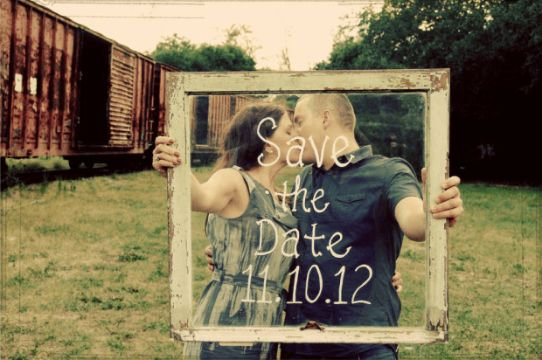 ideas para save the date estilo vintage