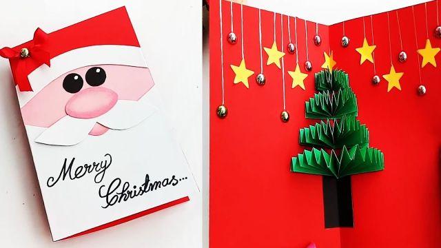 postales de navidad hechas a mano en 3d