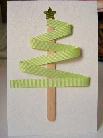 postales de navidad hechas a mano sencillas