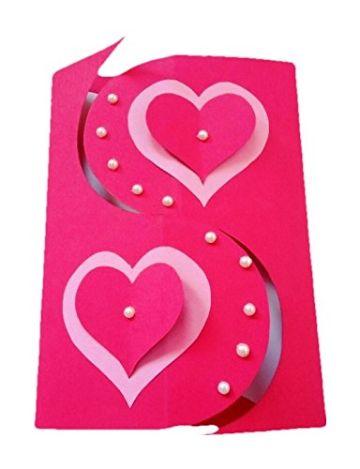 tarjetas de amor hechas a mano con corazones