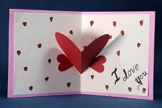 tarjetas de amor hechas a mano corazon pop up
